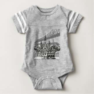 New Orleans Louisiana Baby Bodysuit
