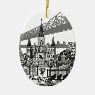 New Orleans Louisiana Ceramic Ornament