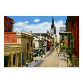 New Orleans Louisiana Chartres Street French Quart Poster