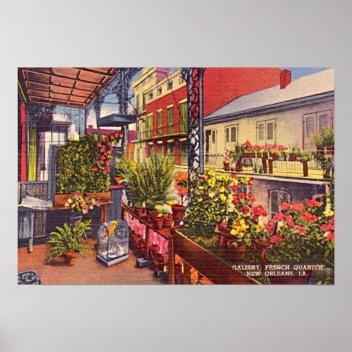 New Orleans Louisiana French Quarter Balcony Poster