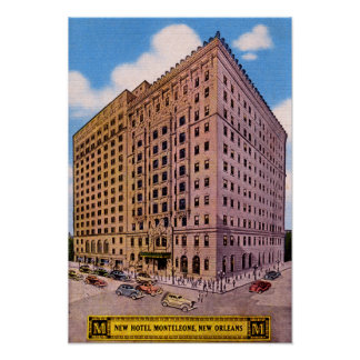 New Orleans Louisiana Hotel Monteleone Poster