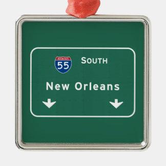 New Orleans Louisiana Interstate Highway Freeway : Metal Ornament
