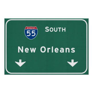New Orleans Louisiana Interstate Highway Freeway : Poster