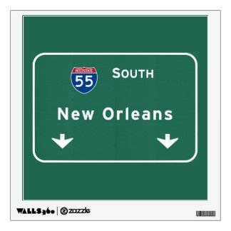 New Orleans Louisiana Interstate Highway Freeway : Wall Decal