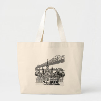 New Orleans Louisiana Large Tote Bag
