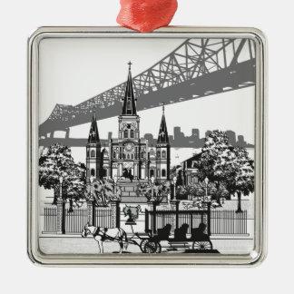 New Orleans Louisiana Metal Ornament