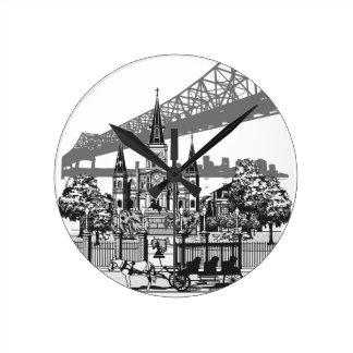 New Orleans Louisiana Round Clock