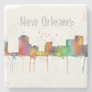 NEW ORLEANS, LOUISIANA SKYLINE STONE COASTER