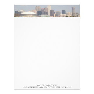 NEW ORLEANS LOUISIANA SKYLINE WITH SUPERDOME PERSONALIZED LETTERHEAD