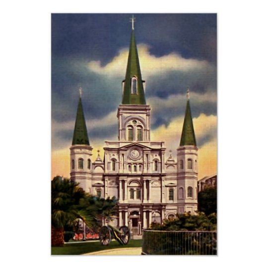 New Orleans Louisiana St Louis Cathedral Poster