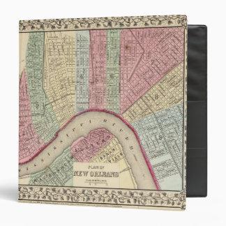 New Orleans Map by Mitchell Vinyl Binder