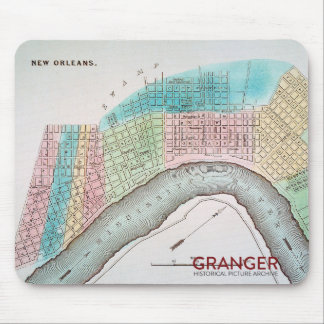 New Orleans Map Mouse Pad