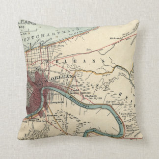 New Orleans Map Pillow