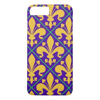New Orleans Mardi Gras Fleur de Lis iPhone 8 Plus/7 Plus Case