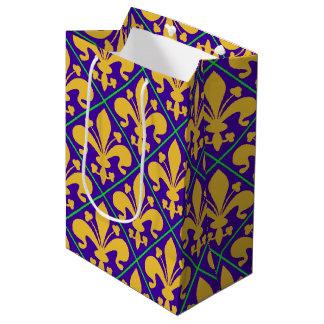 New Orleans Mardi Gras Fleur de Lis Medium Gift Bag