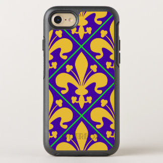 New Orleans Mardi Gras Fleur de Lis OtterBox Symmetry iPhone 8/7 Case
