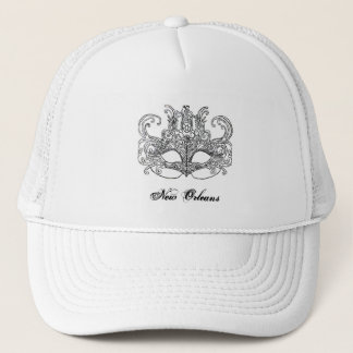 new orleans mask ladies hat