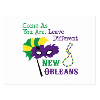New Orleans Mask Postcard