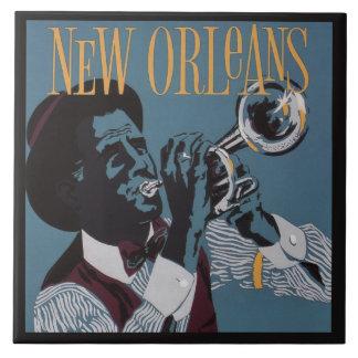 New Orleans Music ceramic tiles