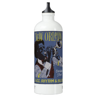 New Orleans Music custom name travel bottle