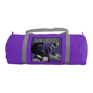 New Orleans Music duffle gym bag