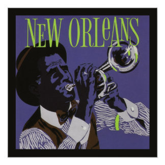 New Orleans Music poster Perfect Poster