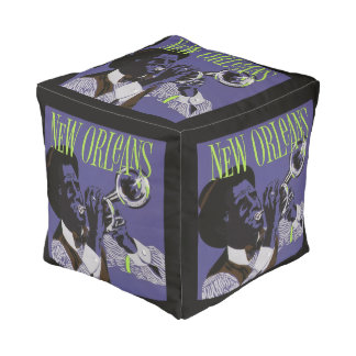 New Orleans Music pouf