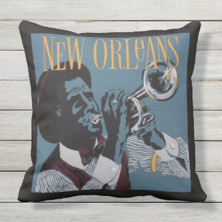 New Orleans Music throw pillows