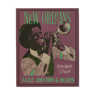 New Orleans Music wood wall art Wood Prints