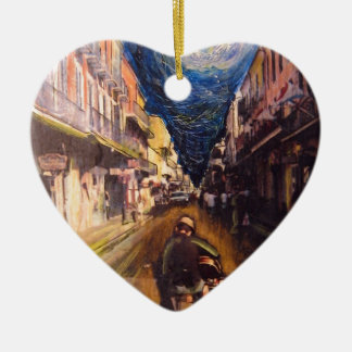 New Orleans Musician 2006 Ceramic Heart Ornament
