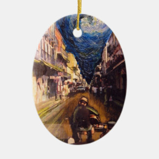 New Orleans Musician 2006 Ceramic Oval Ornament
