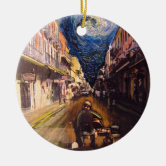 New Orleans Musician 2006 Round Ceramic Ornament