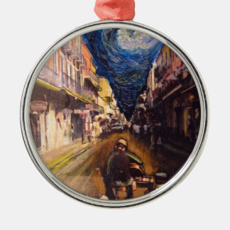 New Orleans Musician 2006 Silver-Colored Round Ornament