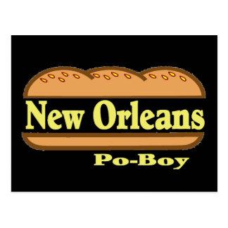 New Orleans Po Boy Postcard