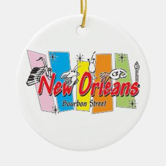 New Orleans Retro Look Ceramic Ornament