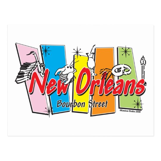 New-Orleans-Retro Postcard