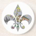 New Orleans Scene Fleur de Lis Coaster