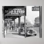 New Orleans Sidewalk, 1935. Vintage Photo Poster