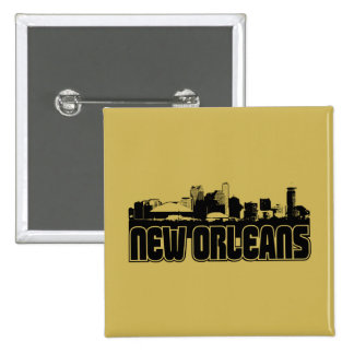 New Orleans Skyline 2 Inch Square Button