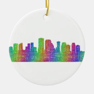 New Orleans skyline Ceramic Ornament