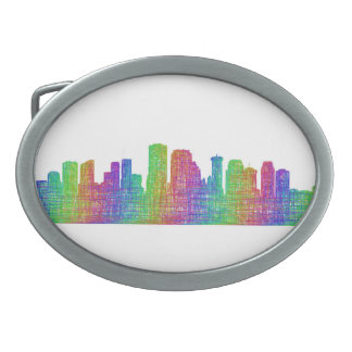 New Orleans skyline Oval Belt Buckle