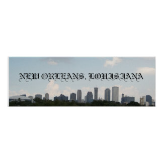 New Orleans Skyline Poster