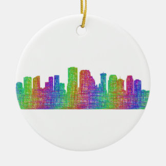 New Orleans skyline Round Ceramic Ornament