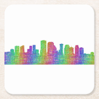 New Orleans skyline Square Paper Coaster