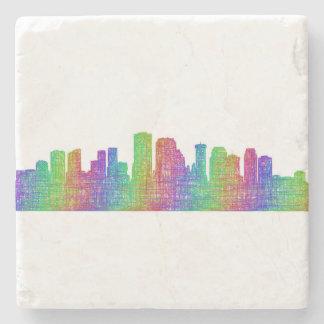 New Orleans skyline Stone Beverage Coaster