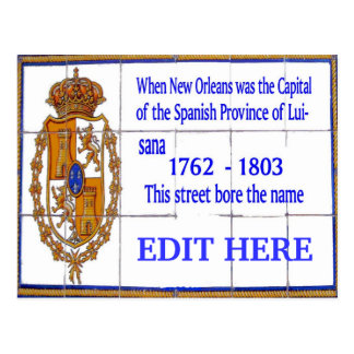 New Orleans Spanish Tile Mural Card