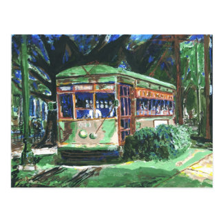 New Orleans St. Charles Streetcar Postcard
