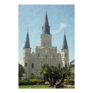 New Orleans St Louis Cathedral Poster Print