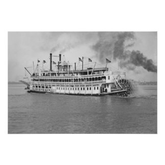 New Orleans Steamboat Cruise 1905 Poster