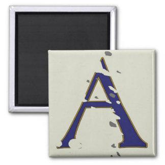 "New Orleans Street Blue Letter Tile ""A"" Magnet"